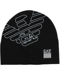 EA7 Train Visibility テクノビーニー帽 - ブラック
