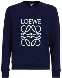 Loewe Anagram コットンスウェットシャツ - ブルー