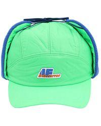 ADER error Quilted Nylon Baseball Cap - Green