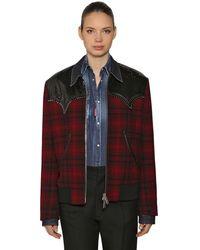 DSquared² ウールシャツジャケット - レッド