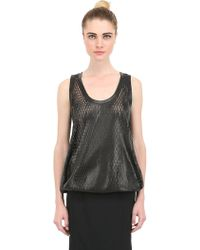 Tom Ford - Lasered Leather Top - Lyst