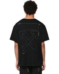 Off-White c/o Virgil Abloh - Camiseta Oversize De Algodón Con Estampado - Lyst