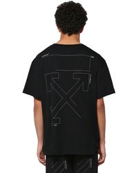 Off-White c/o Virgil Abloh T-Shirt Oversize In Cotone - Nero