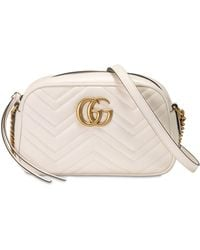Gucci - Sac camera blanc Small GG Marmont - Lyst