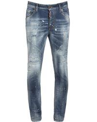 "DSquared² 14cm Jeans Aus Baumwolldenim ""super Twinky"" - Blau"