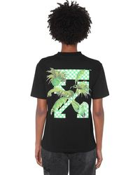 Off-White c/o Virgil Abloh Printed Cotton Jersey T-shirt - Black