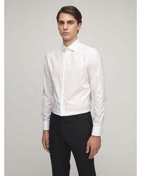 Brioni Dino Fit 24 コットンツイルシャツ - ホワイト