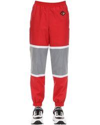 Burberry Спортивные Брюки Из Хлопка - Красный
