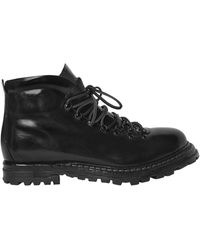 Officine Creative Polished Leather Boots - Black