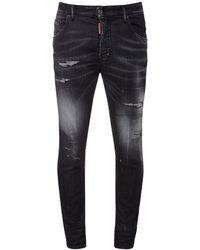 DSquared² Jeans Super Twinky Fit In Denim Di Cotone 14cm - Nero