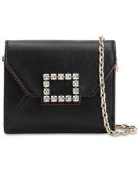 Roger Vivier Trés Vivier Leather Wallet - Black