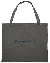 United Standard Racism Sucks トートバッグ - ブラック