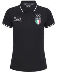 EA7 Italian Olympic Team Polo - Blue