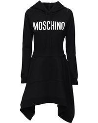 Moschino Платье Из Джерси С Капюшоном - Черный