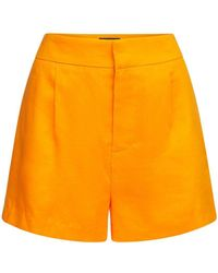 Dundas Shorts Sastre De Lino Y Ramio - Naranja