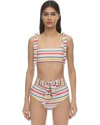Carolina K Iris Sustainable Striped Bikini Top - Multicolour
