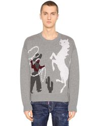 DSquared² - ウールジャカードセーター - Lyst