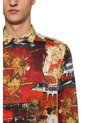 Etro Bedrucktes Baumwollhemd - Mehrfarbig