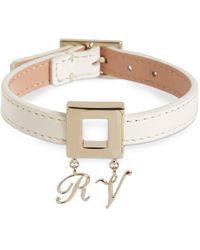 Roger Vivier Leather Bracelet W/metal Charm Buckle - Multicolour