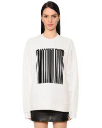 Alexander Wang Velvet Bonded Barcode Jersey Sweatshirt - Black