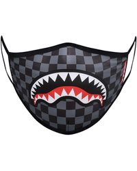 Sprayground Sharks In Paris Printed Fashion Mask - Blue