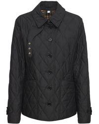 Burberry Fernleigh ナイロンキルテッドジャケット - ブラック