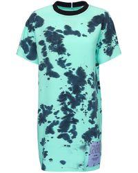 McQ Genesis タイダイシルクtシャツドレス - グリーン