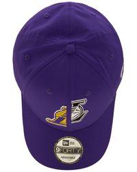 KTZ La Lakers 9forty キャップ - パープル