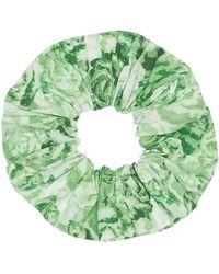 Ganni Scrunchie Aus Baumwolle Mit Druck - Grün