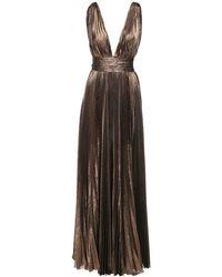 Roberto Cavalli Длинное Плиссированное Платье Из Шифона - Многоцветный