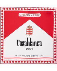 CASABLANCA シルクツイルスカーフ - レッド