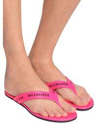 Balenciaga Кожаные Босоножки 10мм - Пурпурный
