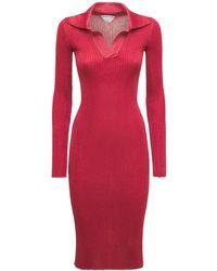 Bottega Veneta Платье Из Лёгкого Кашемирового Трикотажа - Красный