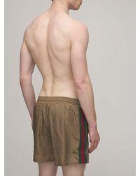 Gucci Gg Nylon Swim Shorts - Natural