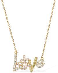 Vivienne Westwood Wilma Long Pendant Necklace W/ Crystals - Metallic