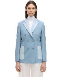 Stella McCartney ストレッチウールジャケット - ブルー
