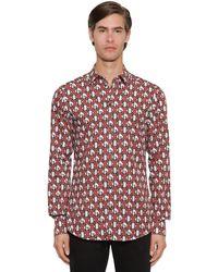 Dolce & Gabbana Hemd Mit Dg-logodruck - Rot