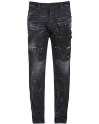 "DSquared² 16.5cm Jeans Aus Baumwolldenim ""cool Guy"" - Schwarz"