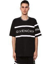 Givenchy T-shirt Aus Baumwolle Mit Logostickerei - Schwarz