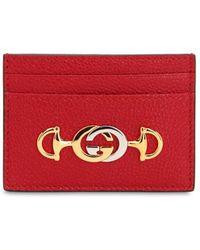 747315d1f48b6 Gucci - Posillipo Leather Card Holder - Lyst