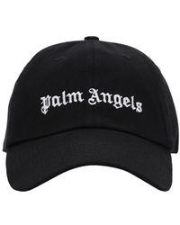 Palm Angels Classic Logo Cotton Canvas Cap - Nero