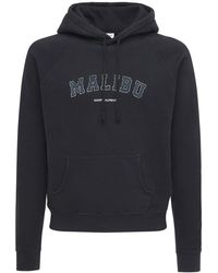 Saint Laurent Malibu Logo Hoodie - Black