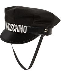 Moschino - Cotton Hat W/ Logo Lettering - Lyst