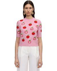 Gucci Wool-jacquard Jumper - Pink