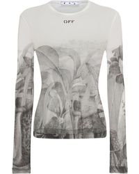 Off-White c/o Virgil Abloh Топ С Принтом - Серый