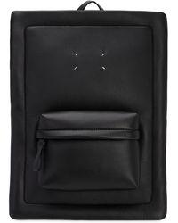 Maison Margiela レザーバックパック - ブラック