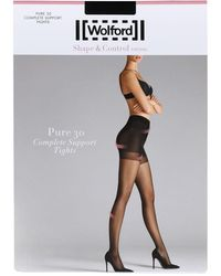 Wolford Women's Fairly Light Pure 30 Complete Support Tights - Multicolor