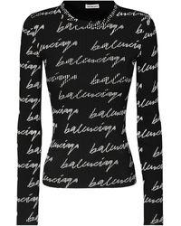 Balenciaga ロゴニットセーター - ブラック