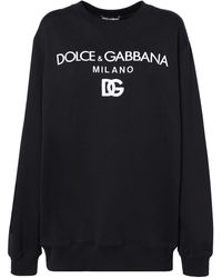 Dolce & Gabbana Logo Cotton Jersey Sweatshirt - Black