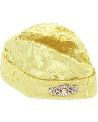 Federica Moretti   Crushed Velvet Hat W/ Brooch   Lyst